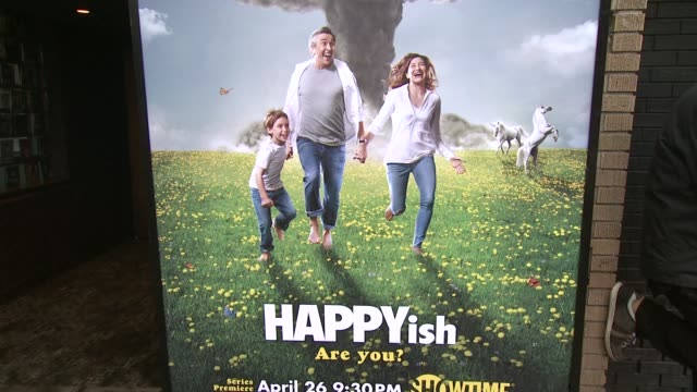 ATMOSPHERE Signage at The SHOWTIME Premiere Of The Original Comedy Series HAPPYish at Sunshine Cinema on April 20 2015 in New York City