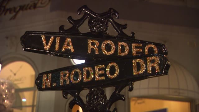 Signage at the SWAROVSKI ELEMENTS and Rodeo Drive Lighting Ceremony at Beverly Hills CA