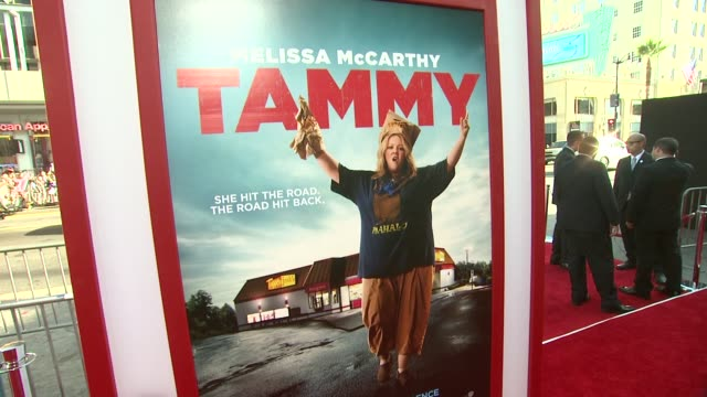 "stockvideo's en b-roll-footage met signage at the ""tammy"" los angeles premiere at tcl chinese theatre on june 30, 2014 in hollywood, california. - tcl chinese theatre"