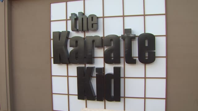 signage at the 'The Karate Kid' Premiere at Westwood CA