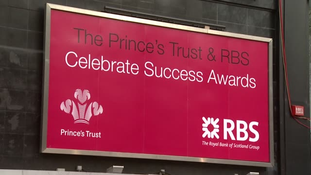 Signage at the The Prince's Trust Success Awards at the Odeon Leicester Square in London on March 18 2008