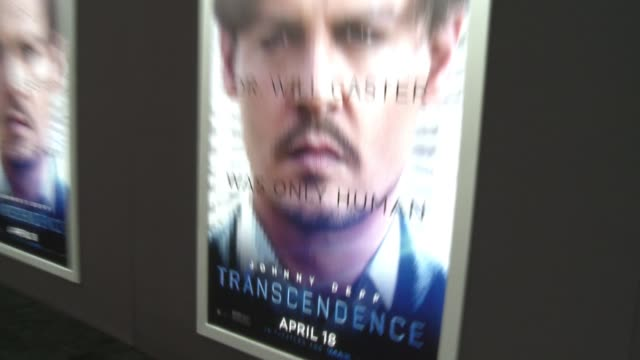 """signage at the """"transcendence"""" los angeles premiere at regency village theatre on april 10, 2014 in westwood, california. - regency village theater stock videos & royalty-free footage"""