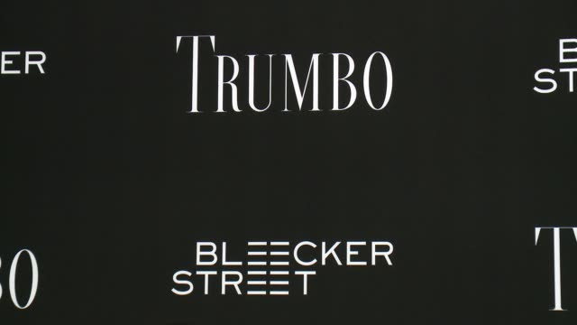 atmosphere signage at the trumbo los angeles premiere at the academy of motion picture arts and sciences on october 27 2015 in beverly hills... - academy of motion picture arts and sciences stock-videos und b-roll-filmmaterial
