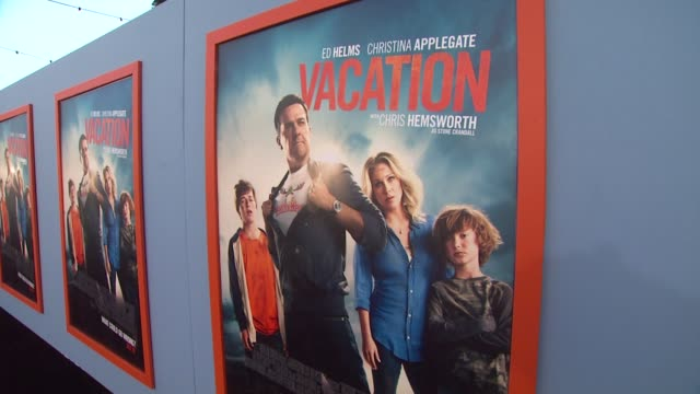 atmosphere signage at the vacation los angeles premiere at regency village theatre on july 27 2015 in westwood california - regency village theater stock videos and b-roll footage