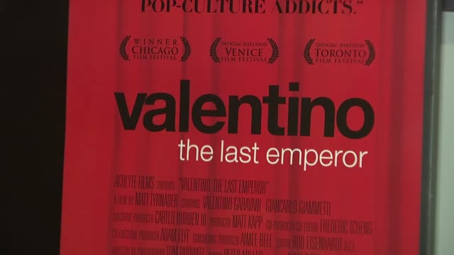 Signage at the Valentino The Last Emperor Premiere at New York NY
