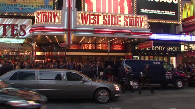 signage at the 'west side story' broadway opening night at new york ny - broadway manhattan stock videos and b-roll footage