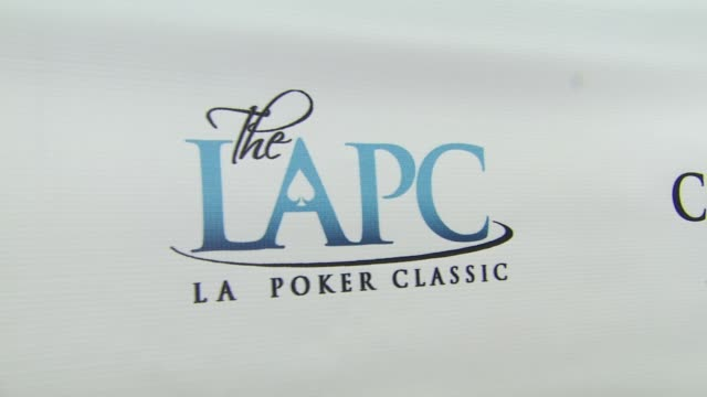 Signage at the World Poker Tour Celebrity Invitational at City of Commerce CA