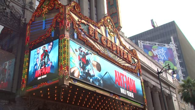 ATMOSPHERE signage at The World Premiere of Marvel's AntMan at Dolby Theatre on June 29 2015 in Hollywood California