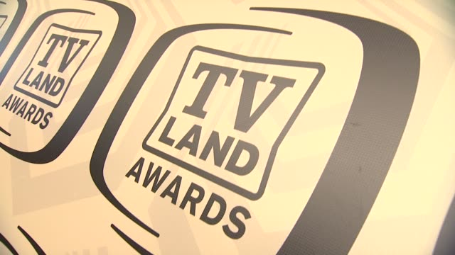 signage at tv land awards 10th anniversary arrivals at lexington avenue armory on april 14 2012 in new york ny - tv land awards stock videos and b-roll footage