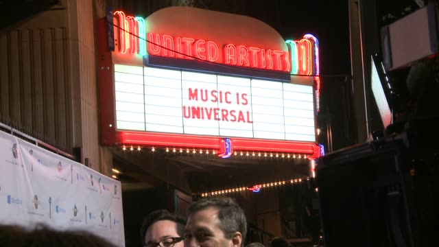 atmosphere signage at universal music group 2014 post grammy party at the ace hotel theater on in los angeles california - ace stock videos and b-roll footage