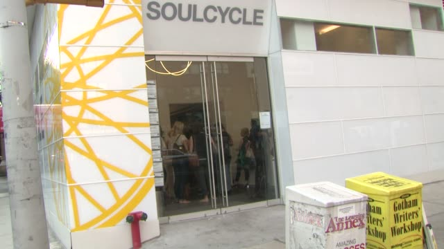 signage at victoria secret 2nd annual supermodel cycle benefiting cancer research at soulcycle upper east side on july 11 2012 in new york new york - supermodel stock videos and b-roll footage