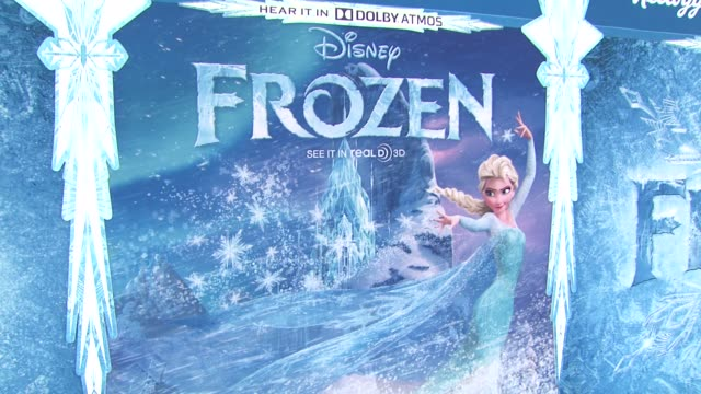 atmosphere signage at walt disney animation studios'frozen los angeles premiere in hollywood ca on - frozen stock videos & royalty-free footage
