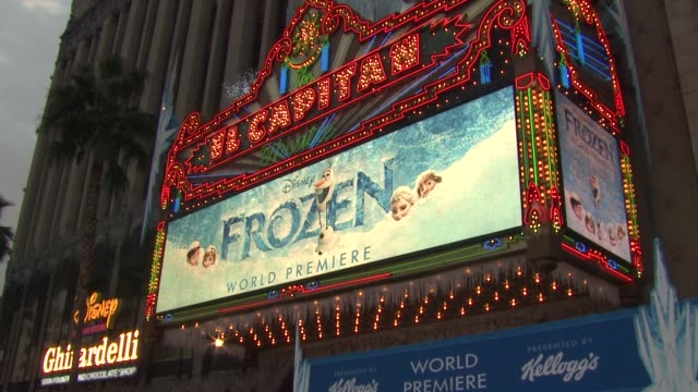 ATMOSPHERE Signage at Walt Disney Animation Studios''Frozen' Los Angeles Premiere in Hollywood CA on