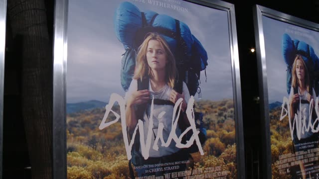 atmosphere signage at 'wild' los angeles premiere presented by fox searchlight at the academy of motion picture arts and sciences on november 19 2014... - 映画芸術科学協会点の映像素材/bロール