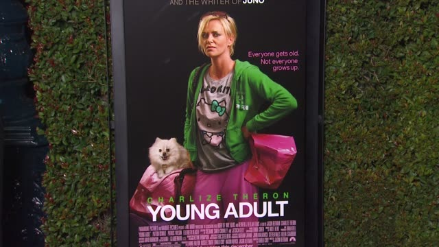 Signage at 'Young Adult' Premiere on in Los Angeles CA