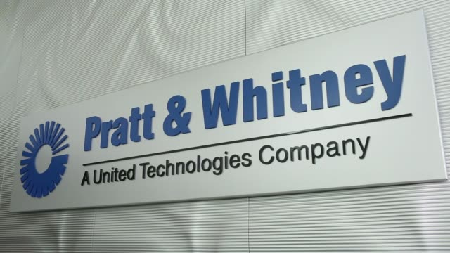 signage for pratt whitney a unit of united technologies corp at pratt whitney's flagship facility for aeroengine maintenance repair and overhaul and... - engine control unit stock videos and b-roll footage