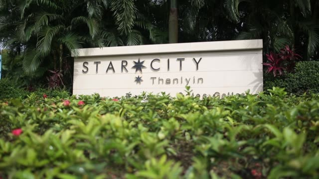 signage for the star city residential complex developed by yoma strategic holdings ltd stands in the township of thanlyin yangon region myanmar on... - newsletter stock videos & royalty-free footage