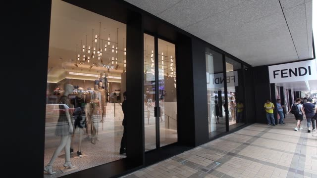 signage for valentino is displayed at the valentino spa luxury fashion store on canton road in the tsim sha tsui area of hong kong china on monday... - tsim sha tsui stock videos & royalty-free footage