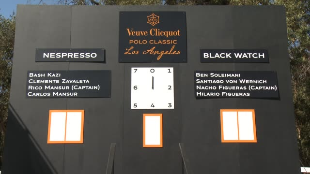 signage, guest at fourth annual veuve clicquot polo classic los angeles benefiting will rogers state historic park on 10/5/2013 in pacific palisades,... - fourth occurrence stock videos & royalty-free footage