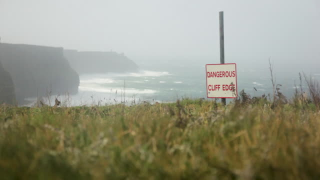 A signage in Cliffs of Moher