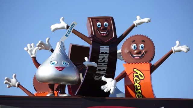 Signage is displayed at The Hershey Company manufacturing plant in Hershey Pennsylvania US on Tuesday Nov 28 2017 Photographer Luke Sharrett Shots...