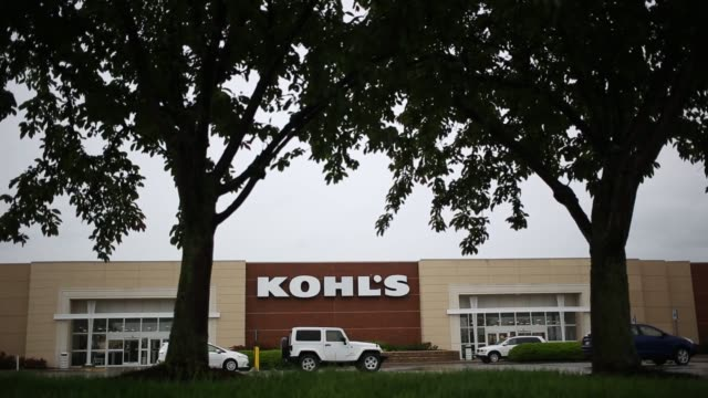 signage is displayed outside a kohl's corp store in louisville and ashland kentucky us on tuesday may 10 2016 shots shot of kohl's sign in front of... - kohls stock videos & royalty-free footage