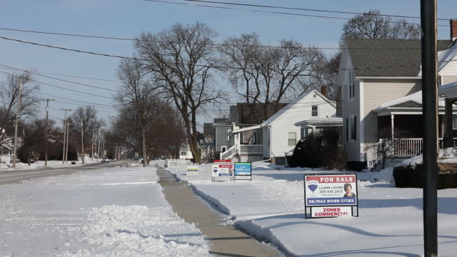 signage outside house for sale in geneseo illinois us on monday jan 20 2020 - 2020 business stock videos and b-roll footage