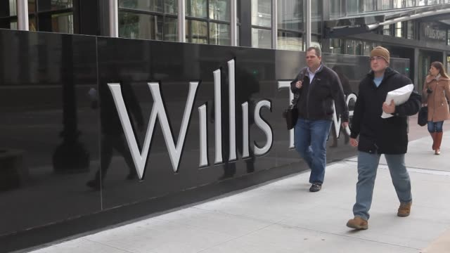signage willis tower on february 13 2013 in chicago il - willis tower stock videos & royalty-free footage
