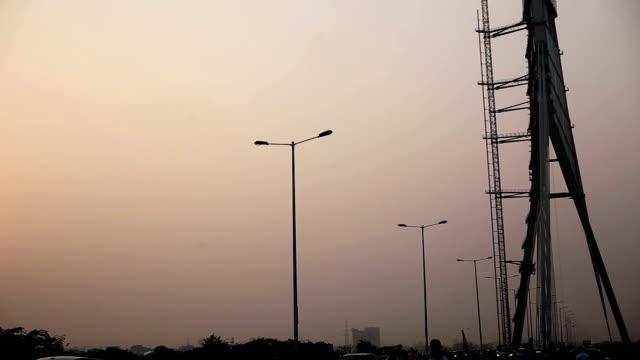 Signature Bridge (Cable-Stayed Bridge) on Yamuna River, Delhi