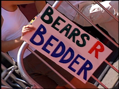 sign/banner at the premiere of 'the country bears' at the el capitan theatre in hollywood, california on july 21, 2002. - el capitan theatre stock videos & royalty-free footage