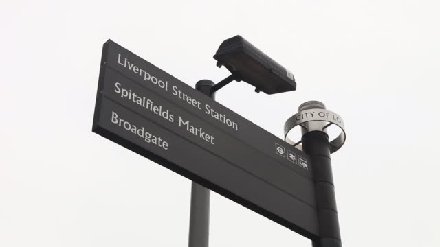 cu signboard in city of london / london, greater london, uk     - direction stock videos & royalty-free footage