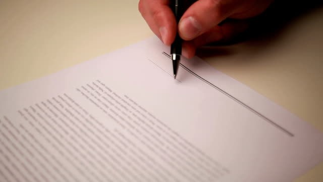 signing contract - autographing stock videos & royalty-free footage