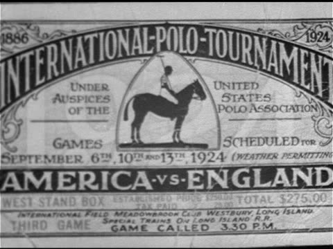 'international polo tournamentseptember 613tthmeadowbrook clublong island' ws tracking game play horses running players w/ mallets tracking ball in... - eastern usa stock videos and b-roll footage