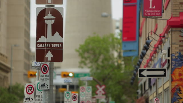 Signs and parking in Calgary