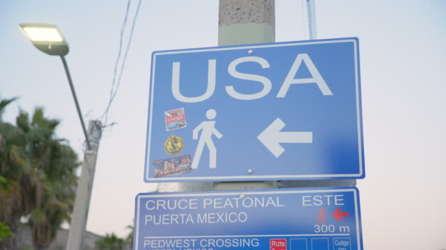 signs at us-mexico border - geographical border stock videos & royalty-free footage