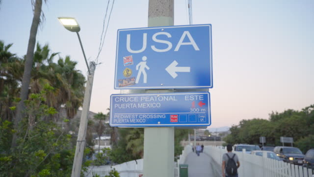 Signs at US-Mexico Border