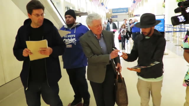 signs autographs and speaks with paparazzi - regis philbin stock videos and b-roll footage