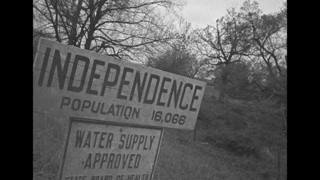 independence population 16 water supply approved state board of health and billboard turn left to missouri's second oldest courthouse independence mo... - hometown stock videos and b-roll footage