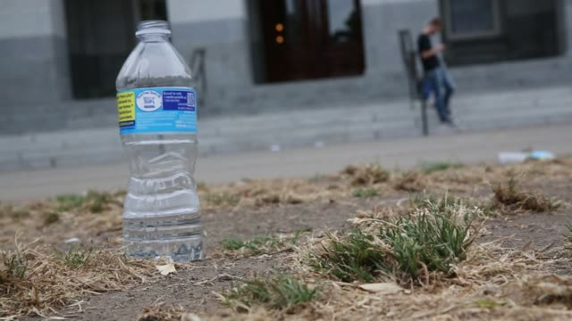 signs promoting water conservation are posted outside the california state capitol building in sacramento, california during a prolonged drought on... - water conservation stock videos & royalty-free footage