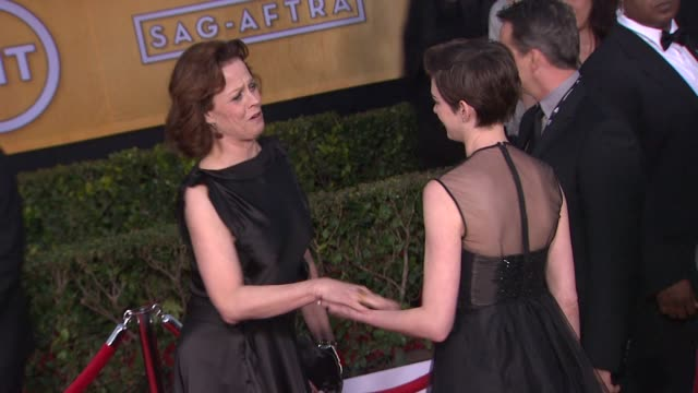 Sigourney Weaver Anne Hathaway at 19th Annual Screen Actors Guild Awards Arrivals on 1/27/13 in Los Angeles CA