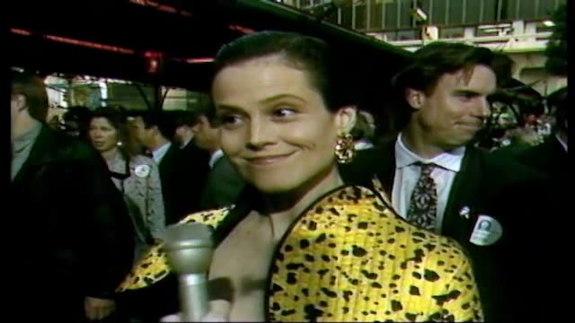 Sigourney Weaver at Ghostbusters II Premiere