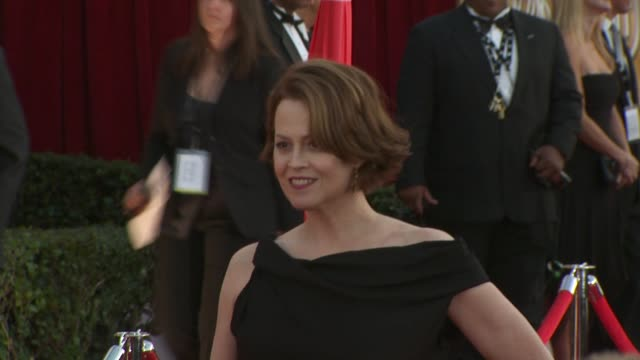 sigourney weaver at the 16th annual screen actors guild awards arrivals at los angeles ca - sigourney weaver stock videos & royalty-free footage