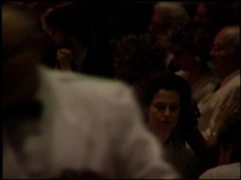 stockvideo's en b-roll-footage met sigourney weaver at the 1989 academy awards luncheon at the beverly hilton in beverly hills, california on march 21, 1989. - sigourney weaver