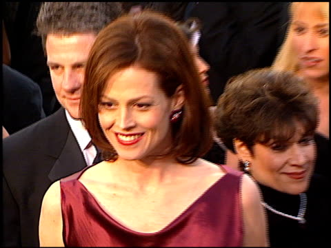 sigourney weaver at the 1997 academy awards arrivals at the shrine auditorium in los angeles california on march 24 1997 - 69th annual academy awards stock videos and b-roll footage