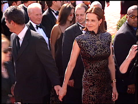 sigourney weaver at the 1998 emmy awards at the shrine auditorium in los angeles california on september 13 1998 - sigourney weaver stock videos & royalty-free footage