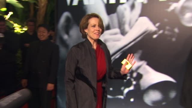 sigourney weaver at the 2010 vanity fair oscar party hosted by graydon carter at west hollywood ca - graydon carter stock videos and b-roll footage