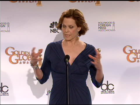 Sigourney Weaver at the 66th Annual Golden Globe Awards Press Room at Los Angeles CA