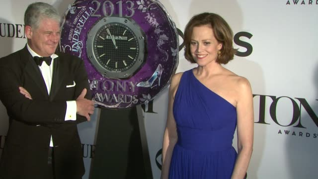 sigourney weaver at the 67th annual tony awards arrivals at radio city music hall on june 09 2013 in new york new york - sigourney weaver stock videos & royalty-free footage