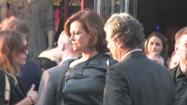sigourney weaver at the 'abduction' premiere in hollywood on 9/15/2011 - sigourney weaver stock videos & royalty-free footage