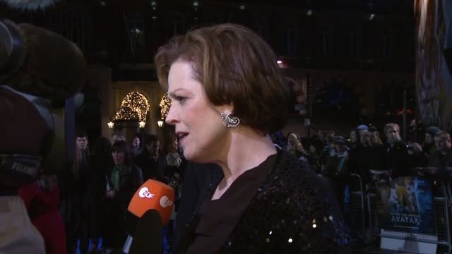 Sigourney Weaver at the Avatar World Premiere at London England